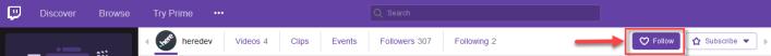 dev_follow button